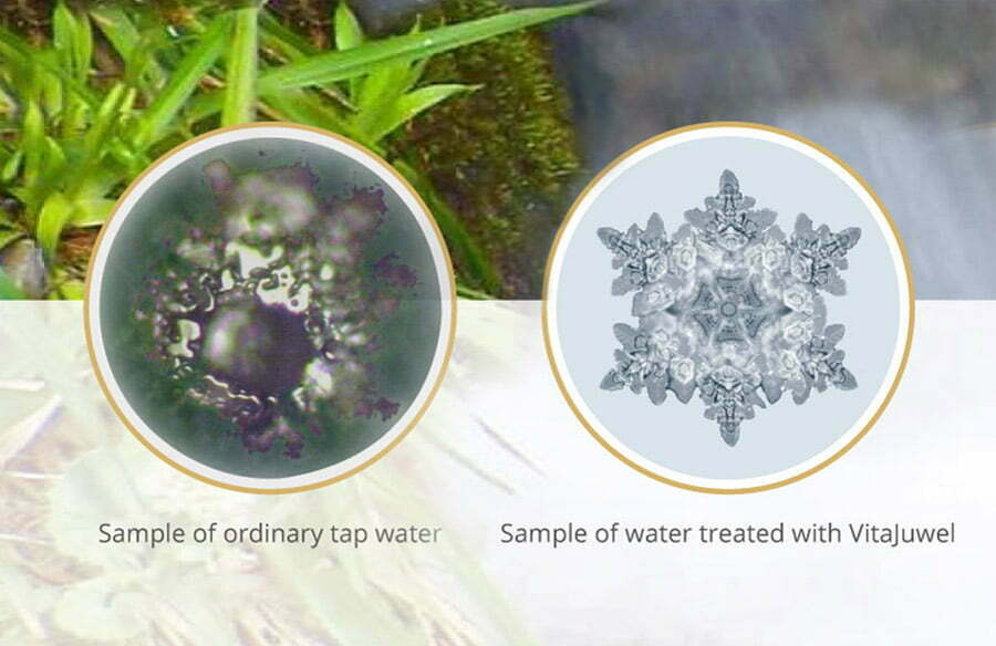 Vitajuwel water with Emoto Protocol