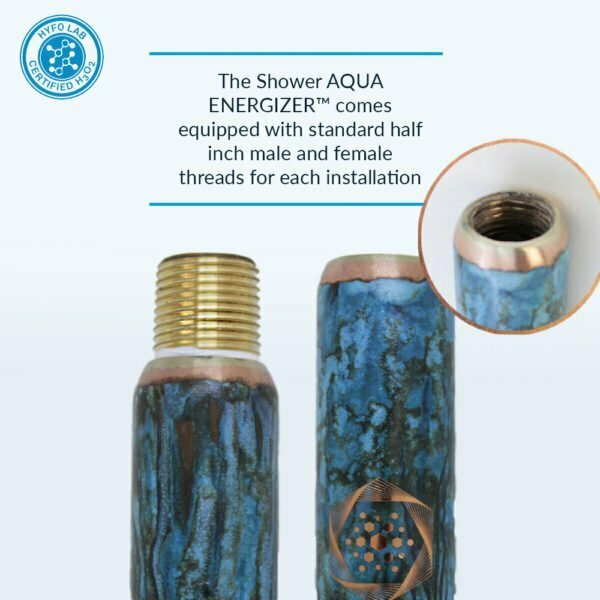 Aqua Energizer Structured Water shower Device Mineral Threads