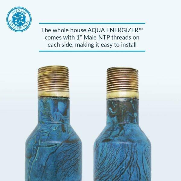 Aqua Energizer whole house device pipe specs